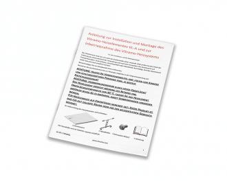 De meegeleverde gebruikshandleiding en montagehandleiding is beschikbaar in het Duits.