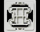 Met deze Jung 2 wipvlak adapter kunnen Jung wipvlakken en afdekramen uit de serie A 500, A 550, A Flow, A Creation, A Plus, AS 500  en AS Universal toegepast worden op Homematic IP schakelaars en dimmers.