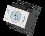De Homematic IP 4 kanaals DIN-rail schakelactor kan met elk kanaal tot maximaal 3680 Watt / 16 Ampere schakelen. Het display toont de actuele status van elk kanaal.