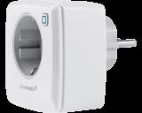 De Homematic IP stekkerschakelaar is eenvoudig in te steken in het stopcontact en schakelt elektrische verwarming, verlichting, TV-apparatuur en andere apparaten aan en uit.