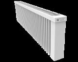 Thermotec liggende elektrische radiator 1600 watt, zonder ingebouwde thermostaat. Geschikt voor ruimtes tot 38 m3 in een ongeïsoleerde woning tot bouwjaar 1975 met energielabel D of lager, of 53 m3 in een matig geïsoleerde woning tot bouwjaar 2005 met energielabel C, of 73 m3 in een goed geïsoleerd woning tot bouwjaar 2021 met energielabel B of hoger.
